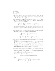 Exam 3 Solution Spring 2008 on Multivariable Calculus