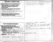 notes - gender in adult lives