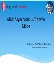 ATM-Asynchronous Transfer Mode - NOTES