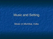 Week 4 - Music in Mumbai, India