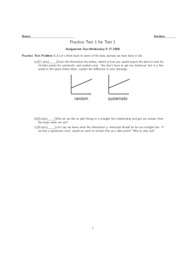 Practice Test 1 for Test 1