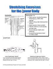 Stretches for Lower and Upper Body