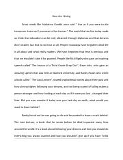 As Mahatma Gandhi once said essay (AutoRecovered).docx