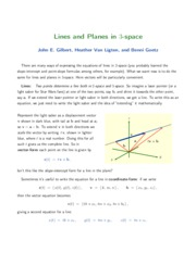 10-Lines and Planes in 3-Space