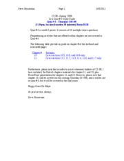 CS 38-Spring 2009-Quiz 4 Study Guide
