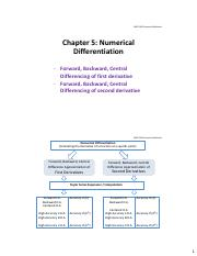 Chapter 5 Numerical Differentiation