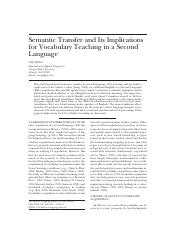 复件 semantic transfer and its implications for L2 vocabulary teaching.pdf