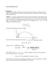 Physics practice exam 2 solutions