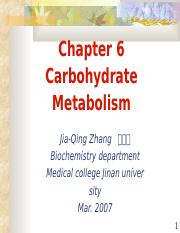 4-Carbohydrate Metabolism