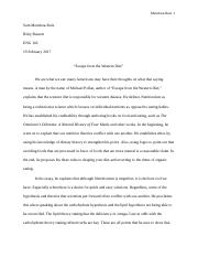 Escape from the Western Diet Essay