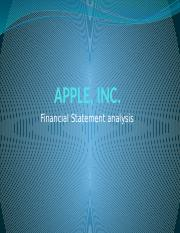 Answer 25102016(2) Financial Statement Analysis Apple, Inc.