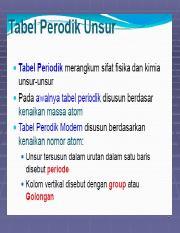 Bab3_Tabel Periodik ppt - 1 2 3 Perkembangan Tabel Periodik