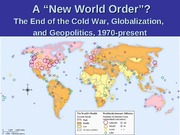 lecture 17 post cold war world