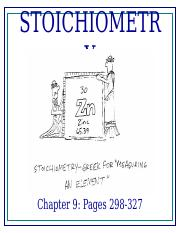 chapter9 powerpoint honors stoichiometry
