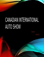 Canadian international auto show.pptx