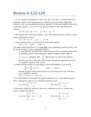 Differential Equations Exam Review (5 of 6)