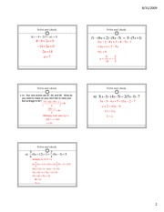 10.3 More on Solving Equations