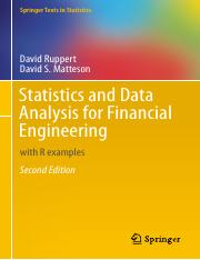 Statistics and Data Analysis for Financial Engineering [2nd Edition] - David Ruppert & David S