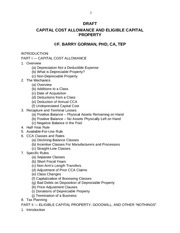 CCA & Eligible Capital Property