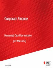 Discounted Cash Flow Valuation (1)