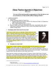 Class Twelve Notes