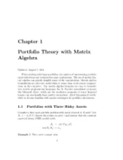 portfolio theory with matrix algebra lecture notes.pdf