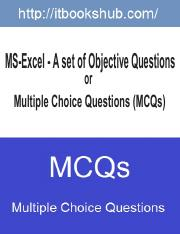 MS-Excel - A set of Objective Multiple Choice Questions (MCQs).pdf