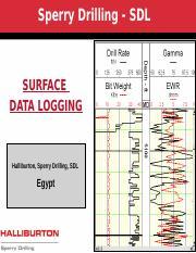 Mud Logging pptm - Sperry Drilling SDL SURFACE DATA LOGGING