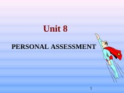 2012 Unit 8 Personal assessment