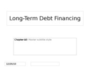 Ch. 10 Long-Term Financing