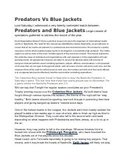 Predators Vs Blue Jackets.docx