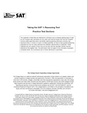 Official SAT 2003-2004 Practice Test