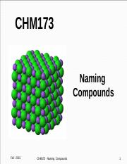 Lecture Topic #6 - Naming Compounds
