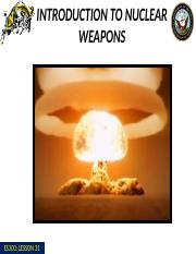 Lesson 28 Intro to Nuclear Weapons.pptx
