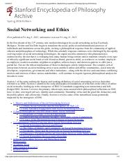 Social Networking and Ethics (Stanford Encyclopedia of Philosophy_Spring 2016 Edition).pdf