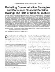 Petersen et al - 2015 - Marketing communication strategies and consumer financial decision making.pd