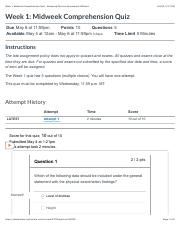 Week 1: Midweek Comprehension Quiz : Advanced Physical Assessment-Williams.pdf