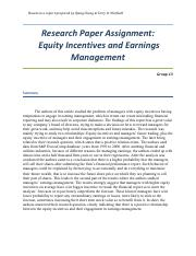 5_Equity incetives and earnings management