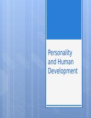Personality and Human  Development