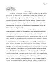 narritaive essay