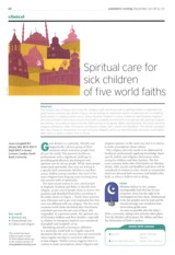 Spiritual_care_for_sick_children of five world faiths