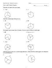 11-Arcs and Central Angles - Kuta Software Infinite Geometry Name ...