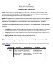 IT 600 Module 1 Diagram Guidelines and Rubric