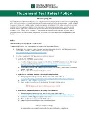 CPCC Placement Test Retest Policy.pdf