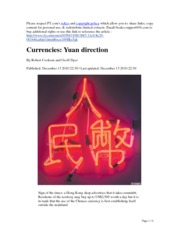 CHinese Yuan Direction 13.Dec