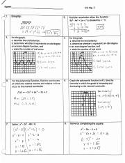 Graphing Quiz Review Answers