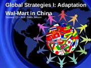 11 - Global Strategies I, Adaptation, Win11