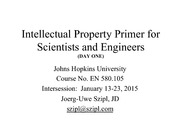 Intellectual Property Primer 2015