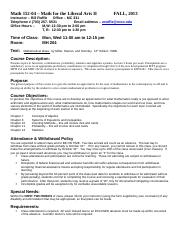 Syllabus for MTH 152-04 Fall 2013(1)
