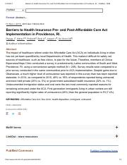 Barriers to Health Insurance Pre- and Post-Affordable Care Act Implementation in Providence, RI.pdf